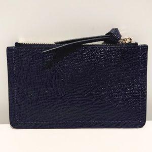 henri bendel Accessories - Henri Bendel Navy Blue Patent Saffiano Card Case